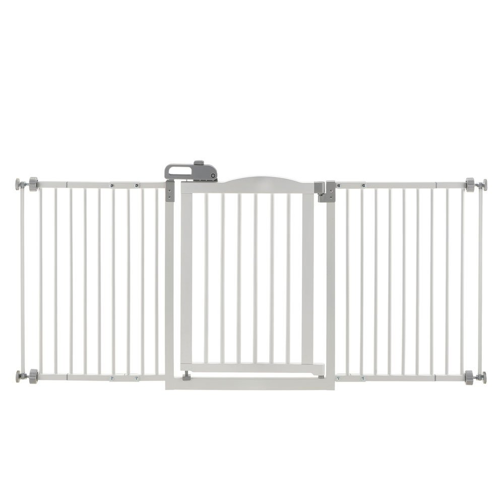 One-Touch Wide Pressure Mounted Pet Gate II White