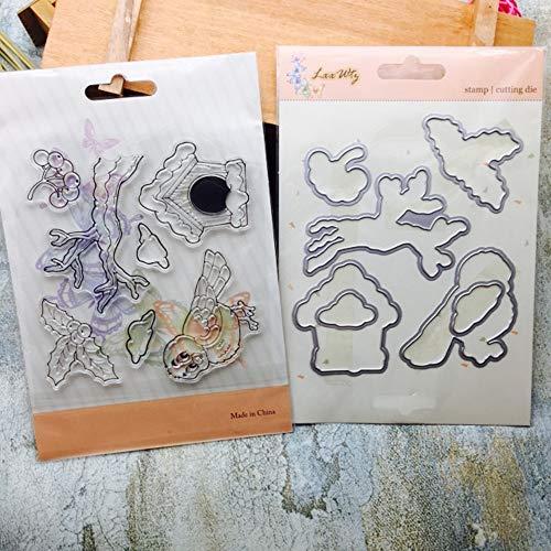 Metal Cutting Dies Stencils DIY Scrapbooking Embossing Album Paper Card Craft Decor set2 ()