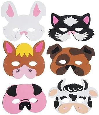 Farm Animal FOAM MASKS children PARTY BAG FILLER STOCKING Toy fancy