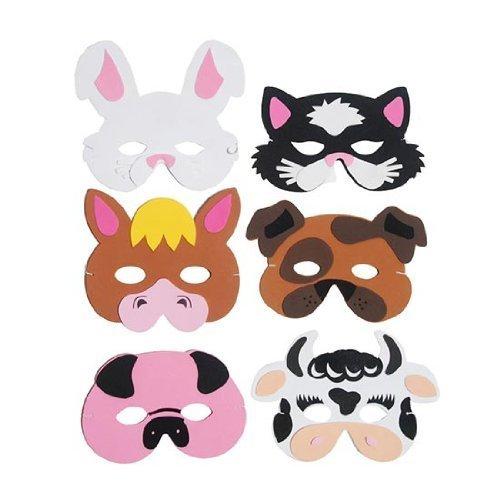 Foam/Cardboard Masks Fancy Dress Accessories Kids Nativity Party Bag