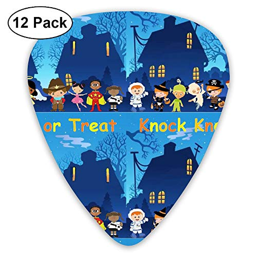 (Knock Knock Trick Or Treat Surprise Eggs & Sing-along Small Medium Large 0.46 0.73 0.96mm Mini Flex Assortment Plastic Top Classic Rock Electric Acoustic Guitar Pick Accessories Variety Pack)