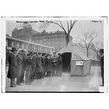 Photo: Recruiting,Central Park,April 6,1916,tent,train,line of men,Bain News Service