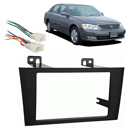 Stereo Avalon 2004 Toyota (Fits Toyota Avalon 2000-2004 Double DIN Stereo Harness Radio Install Dash Kit)