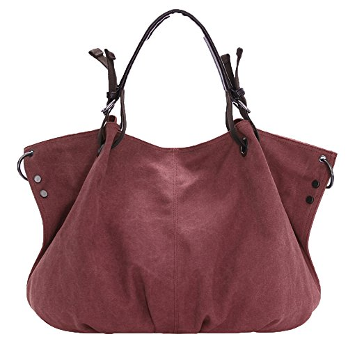Hobo Body Shouder Girl's Vintage Bucket Bag Women 973 Canvas Cross Red Nameblue Casual Bag Bag wine Handbag Bags Canvas Bag Messenger qOBX0