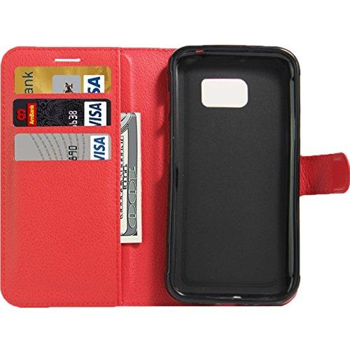 Fashion & personality Para la galaxia S7 S-Shaped activo de Samsung Caja suave de la cubierta protectora de TPU ( Color : Purple ) Red