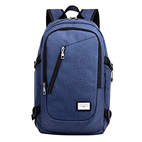 Cheap Slim Laptop Backpack, Business Computer Bag with Headphone Port,Travel Backpacks with USB Charging Hole for College, Fits 14 Inch Laptop / Notebook