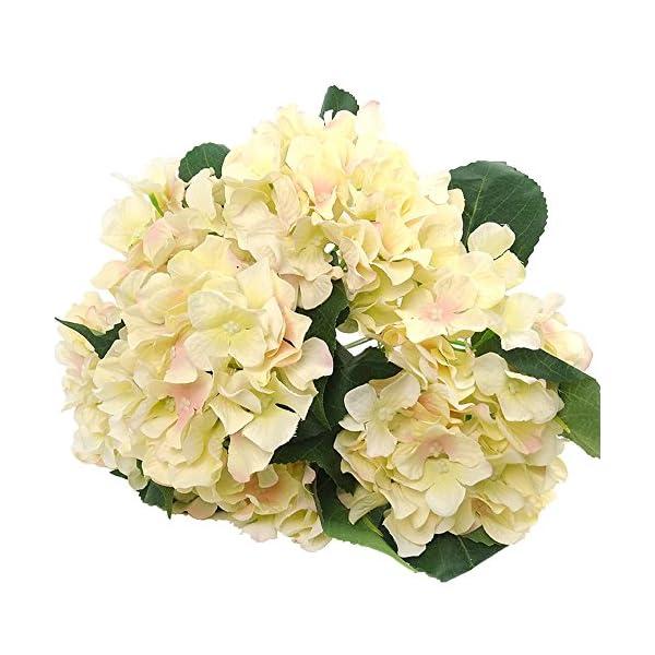 Felice Arts Artificial Flowers 18″ Silk 7 Big Head Hydrangea Bouquet for Wedding, Room, Home, Hotel, Party Decoration