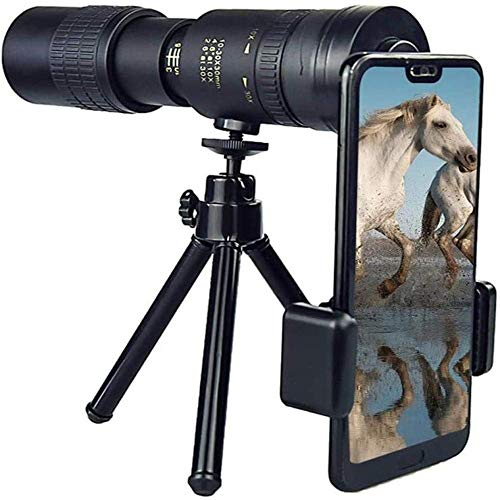 🥇 4K 10-300X40mm Super Telephoto Zoom Monocular Telescope