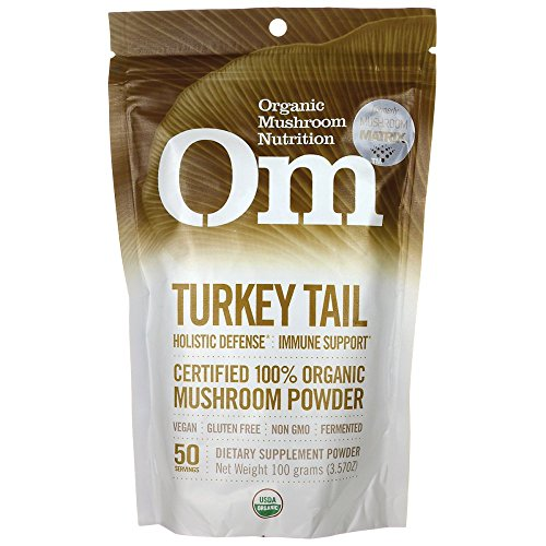 Turkey Tail - Certified 100% Organic Mushroom Powder 3.57 Ounce (100 grams) Pwdr