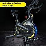 JGXRJLK-Cyclette-ProfessionaleSpin-Bike-stazionario-con-Volano-Cinghia-Supporto-Tablet-Supporto-Smartphone-Comodo-Sella