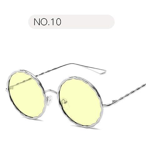 Belingeya Unisexo Gafas de Sol Redondas con Espejo Mujer ...