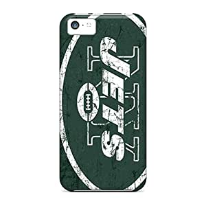 Shock-Absorbing Hard Phone Covers For Iphone 5c (dlN3123AgpN) Customized Vivid New York Jets Skin