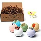 Natural Bath Bombs Christmas Gift Set For Women, Relaxation and Moisturizing Large Bath Bombs HandMade in USA, Safe for Sensitive Skin - Epsom, Dead Sea Salts & Essential Oils - Spa Fizzies