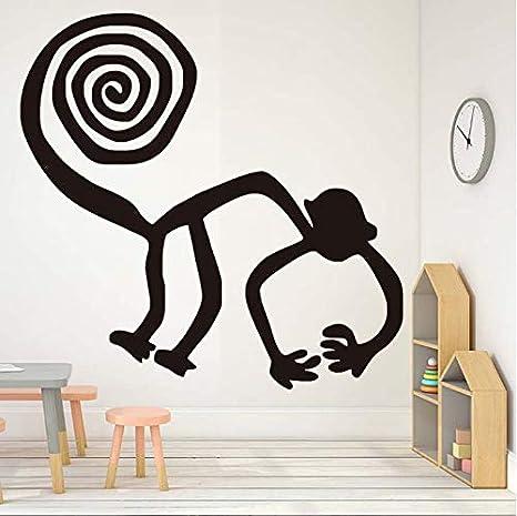 Ajacklove Etiqueta De La Pared Remolino Abstracto Cola del Mono ...