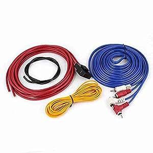 Movimiento y movimiento (TM) Auto Coche Plástico RCA Audio Amplificador Cableado 4