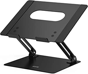 "Besign LS10 Aluminum Laptop Stand, Ergonomic Adjustable Notebook Stand, Riser Holder Computer Stand Compatible with MacBook Air Pro, Dell, HP, Lenovo More 10-15.6"" Laptops, Black"