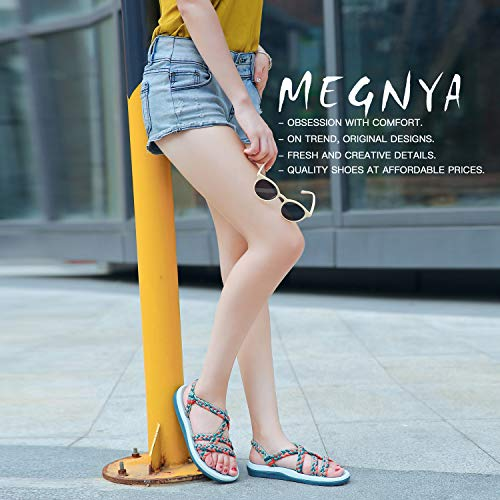 9cc7d55655c7f QLEYO Women's Comfortable Flat Walking Sandals with Arch Support Waterproof  for Walking/Hiking/Travel/Wedding/Water Spot/Beach. ZDKDQL01-corydails ...