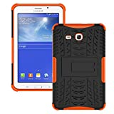 Galaxy Tab 3 Lite Case,T110 Case, Ngift [Orange] Heavy Duty Dual Layer Hybrid Shock Proof Fully Protective [Kickstand] Case for Samsung Galaxy Tab 3 Lite 7.0 SM-T110 / T111