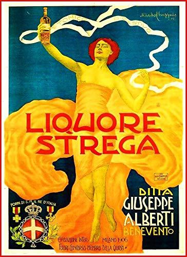 WholesaleSarong Strega 1900 Liquor ad Retro Poster Room Wall Poster Home Accent Interior