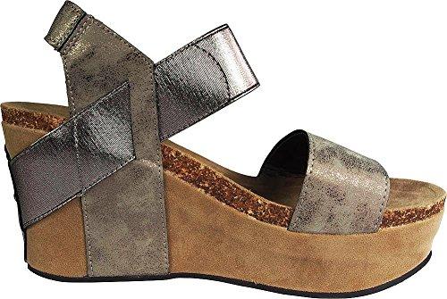 Wedge Dumas Sandals Hester Pierre 1 Pewter Women's 6ZApqnxvI
