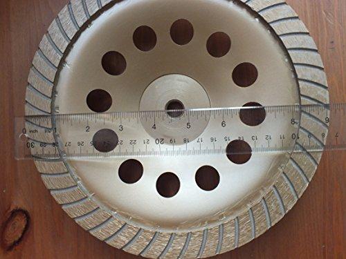 Techdiamondtools Turbo Diamond Cup Grinding Wheel 9 inch - 5/8