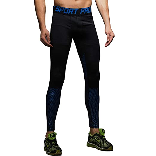 3a602d38574df Amazon.com: AIMINY Yoga Pant for Men Compression Running Leggings  Basketball Tights Base Layer: Clothing