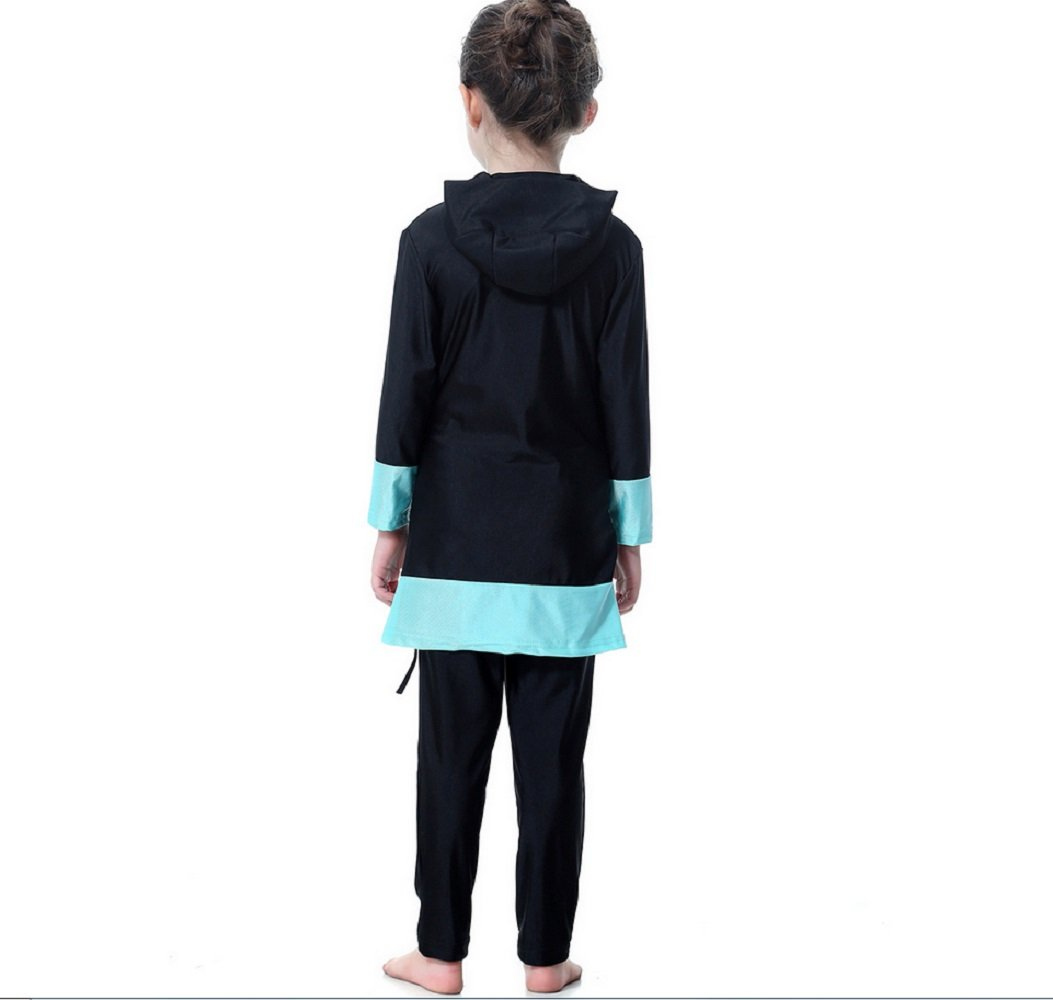 6d6d3495db Amazon.com: FXFAN Muslim Girl Traditional Fashion Swimsuit Swimwear  Three-piece, Split Swimsuit With HatZHANGM (Color : Black): Sports &  Outdoors