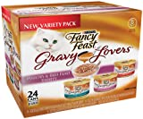 Fancy Feast Gravy Lovers Cat Food Variety Pack, 3-Ounce Cans (Pack of 24), My Pet Supplies