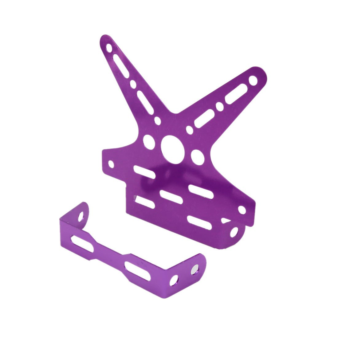uxcell Universal Purple Swallow Tail Style License Plate Bracket Frame for Motorcycle