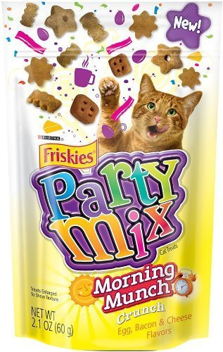 Purina Friskies Party Mix – Morning Munch Crunch – Egg, Bacon, Cheese Flavors 2.1 Ounces (Pack of 3) Review