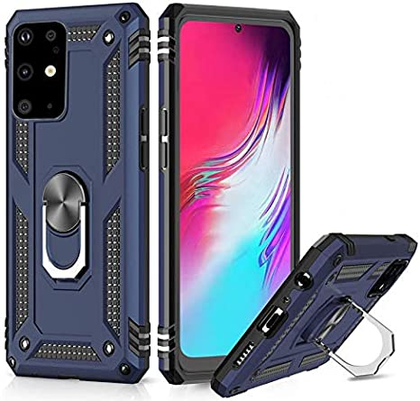 Galaxy S20 FE Case Compatible with Samsung Galaxy S20 FE 5G Case Heavy Duty Military Case with Kickstand Rotating Ring Stand Cover Galaxy S20 FE 5G Screen Protector for Samsung S20 FE 5G//4G Case Women