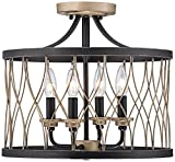 Cheap Witmer Black Bronze 16″ Wide 4-Light Ceiling Light
