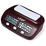 Presettable Practical Digital Chess Clock I-Go Count up Down Timer for Game Competition/Chinese Chess/International Chess with Large Display and Buttons, Bonus Period and Delay Period, Waterproof