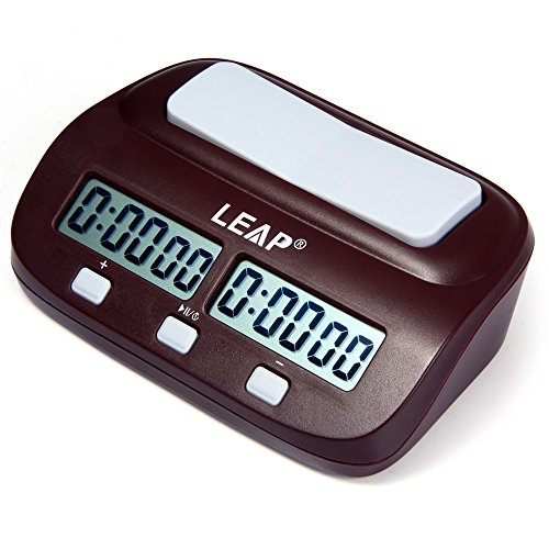 LEAP PQ9907S Digital Chess Clock I-go Count Up Down Timer for Game Competition,Down Game Clock,Timing Analogue Electronic Count Up