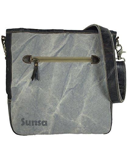 Sunsa Damen Herren Tasche Umhängetasche Schultertasche aus Canvas / Segeltuch