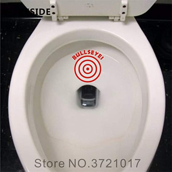 Amazon Com Bathroom Stickers Wall Decor Target Aiming Restroom