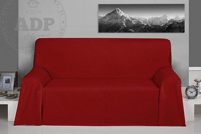 "ADP Home - Plaid/Colcha Multiusos Tejido Loneta ""Marble"" Ideal para Cubrir Sofá (240X280 CM) Verde"