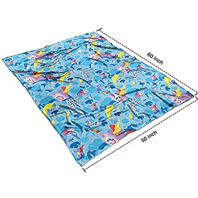 coolgood Fleece Blue's Steve Clues Dog Blue American Children's TV Blanket-50¡± 60¡± All Season Blanket for Bed Couch Chair: Home & Kitchen
