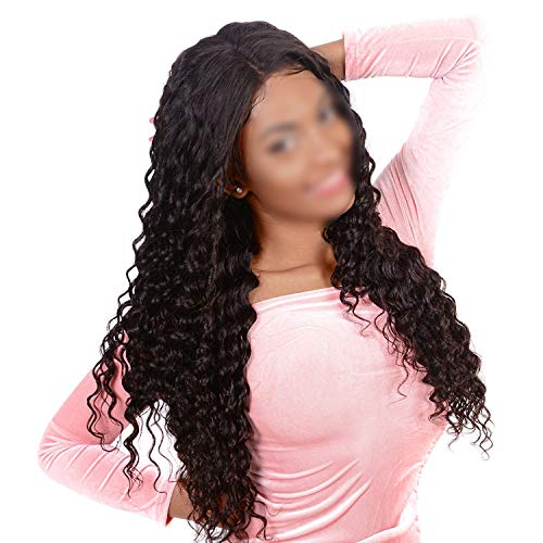 Lace Front Human Hair Wigs Brazilian Loose Deep Wave Wigs For Black Women Pre Plucked 4x4 Lace Wig Natural Color & Ombre Wigs,#27,10inches,130% ()