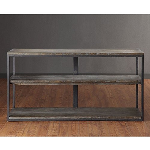 Handcrafted Entertainment Console (Media Entertainment Console with Handcrafted Reclaimed Wood)