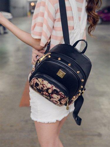 Donalworld - Bolso mochila  para mujer blanco blanco medium Black1