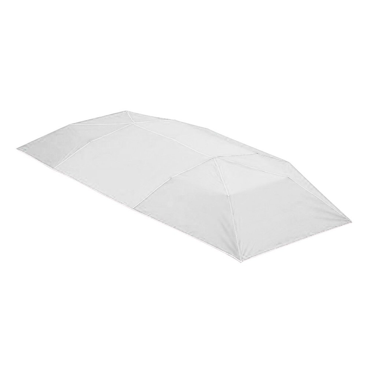 Dooret Auto-Überdachungs-Abdeckung, Snowproof Auto-Regenschirm-Halb Automatische Markise-Zelt-Auto-Abdeckung im Freien Wasserdichter tragbarer Auto-Regenschirm 1