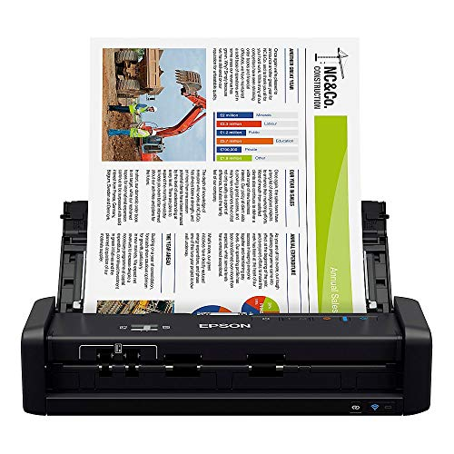 Buy Epson Workforce ES-300W Wireless Color Portable Document Scanner with ADF for PC and Mac, Sheet-...