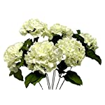 21-Hydrangea-Bush-Artificial-Silk-Wedding-Bridal-Craft-Bouquet-Flowers-7pc-Cream