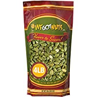 We Got Nuts Pumpkin Seeds Healthy Snacks 4Lbs Bag | Raw Pepitas No Preservatives Added, Non-GMO, 100% Natural With No Shell | For Baking, Salad Toppings, Cereal, Roasting | Low Calorie Nuts,