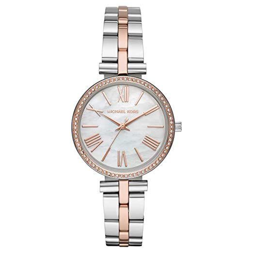 2293f12e1ce Michael Kors Maci Two-Toned Rose-Gold and SIlver Stainless Steel Ladies  Watch MK3969  Amazon.co.uk  Watches