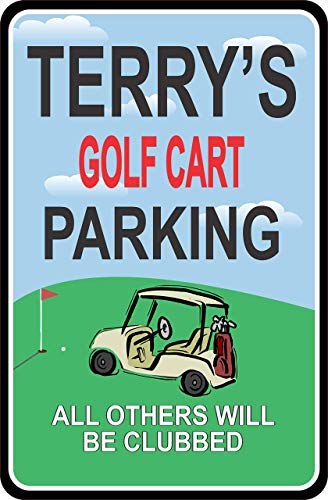 - Personalized Golf Cart Parking Sign, Golfing Accessory, Golf Gifts - Fun Sign Factory Original