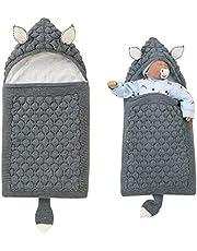 iFCOW Sovsäck för nyfödd baby, tecknade öron svans nyfödd baby linda filt spädbarn stickad fleecefodrad barnkammare filt barnvagn wrap