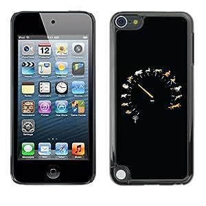 TopCaseStore / la caja del caucho duro de la cubierta de protección de la piel - Animal Speed Speedometer - Apple iPod Touch 5