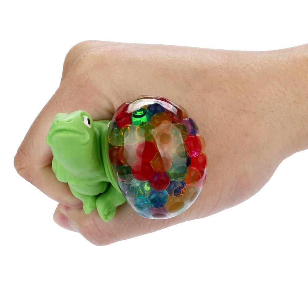 Minzgr/ün 9x5x5cm Bescita Stressabbau-Spielzeug Spongy Bead Rainbow Ball Relief Schildkr/öte Squishies Langsam Steigende Squeeze Toys Duft Stressabbau Spielzeug